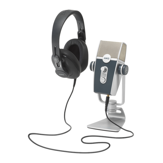 AKG Podcaster Essentials - Black / Gray - Audio Production Toolkit: AKG Lyra USB Microphone and AKG K371 Headphones - Hero