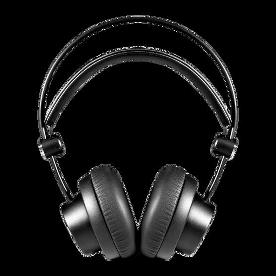 K175 - Black - On-ear, closed-back, foldable studio headphones - Front