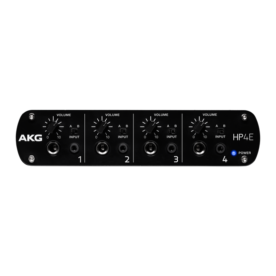 HP4E - Black - 4-channel headphone amplifier - Front