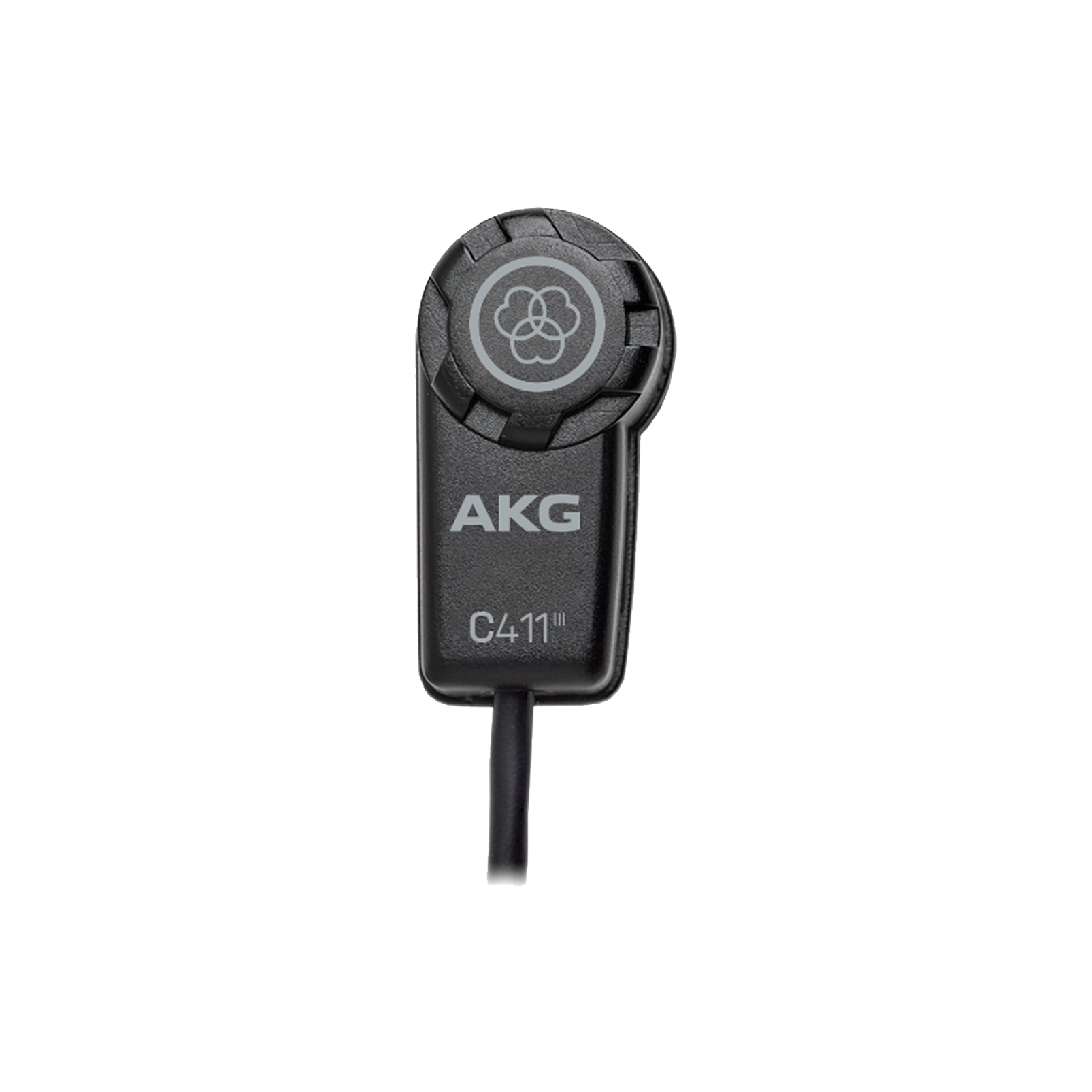 C411 L - Black - High-performance miniature condenser vibration pickup with mini XLR connector - Hero