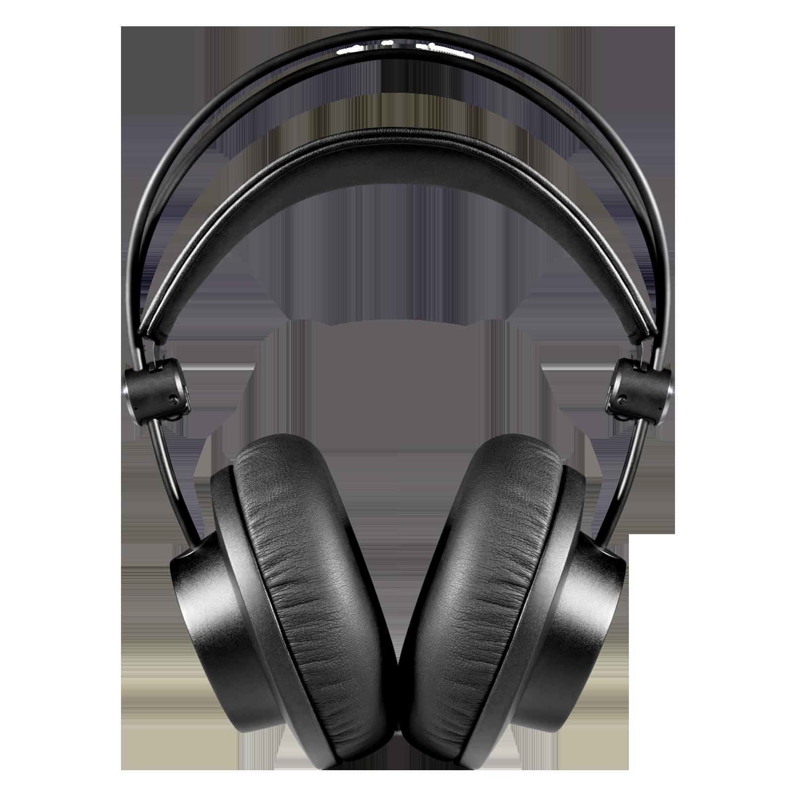 K245 - Black - Over-ear, open-back, foldable studio headphones - Front