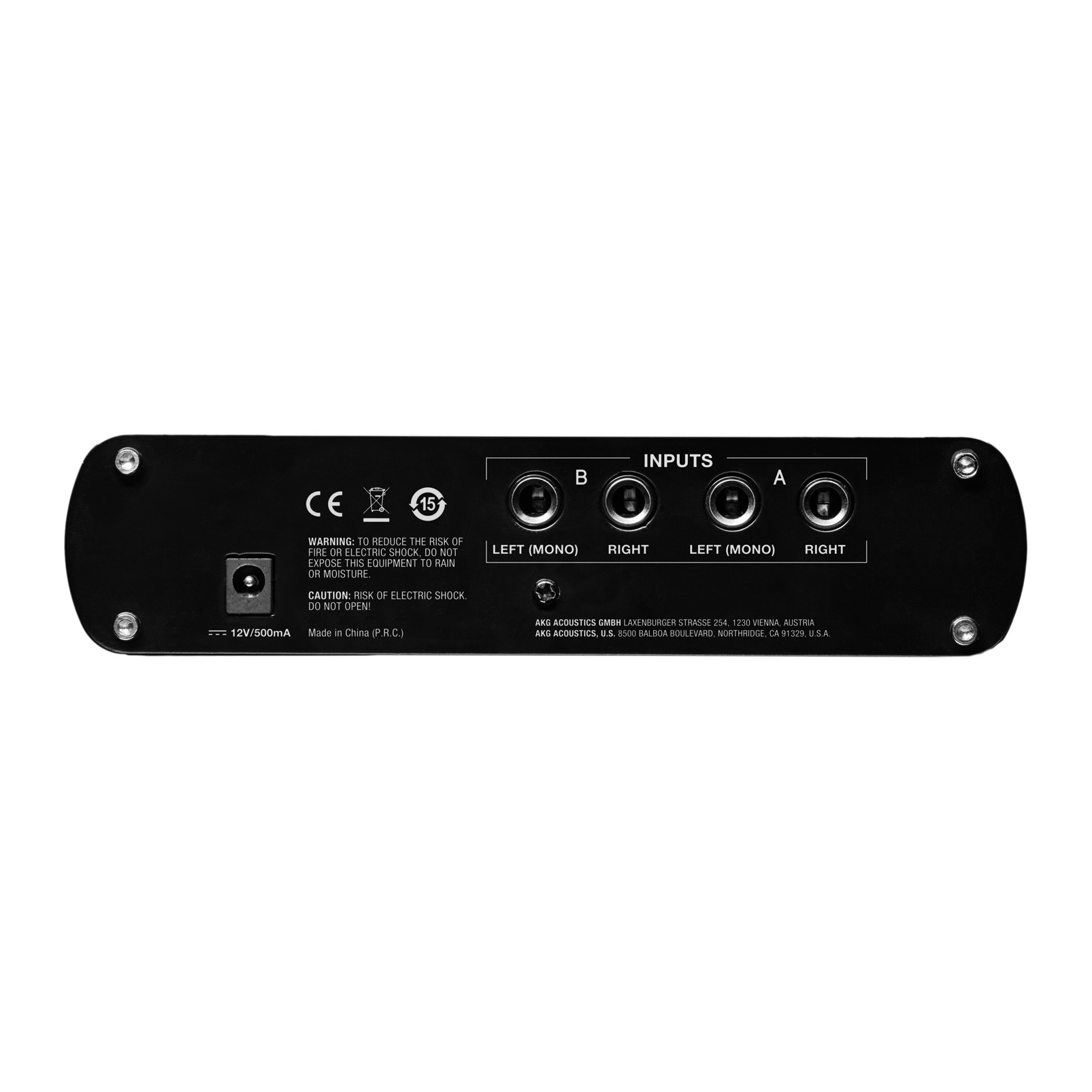 HP4E - Black - 4-channel headphone amplifier - Back