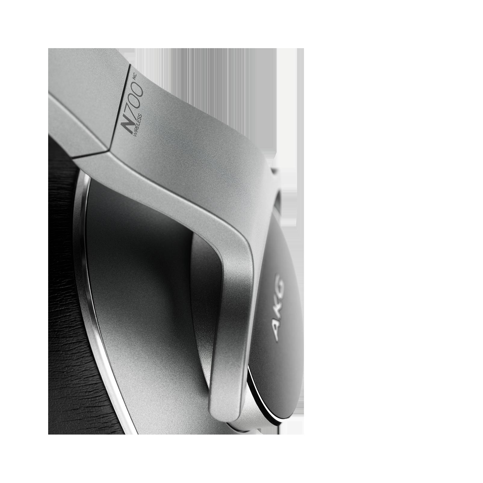 AKG N700NC Wireless - Silver - Wireless, Adaptive Noise Cancelling Headphones - Detailshot 1